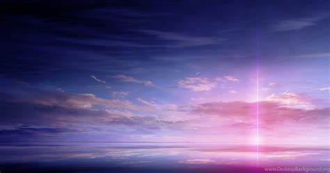 Light Anime Wallpaper - anime scan landscape sky cloud beautiful light color