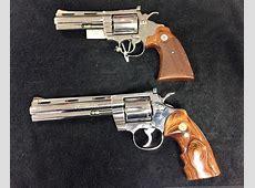 POTD New Unfired Nickel Colt Python and Colt Diamondback