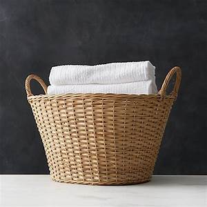 Wicker Laundry Basket | Crate and Barrel