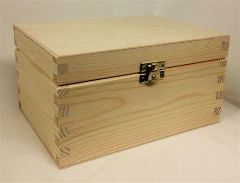 wooden storage box  lid