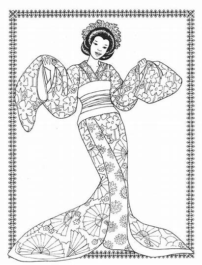 Coloring Pages Costumes Dancers Books Exotic Printable