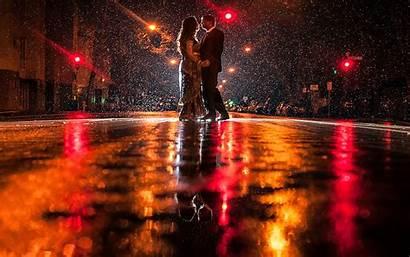 Couple Rain Romance Rainy Night Romantic Kiss