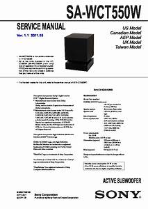 Sony Ht-ct550w  Sa-wct550w Service Manual