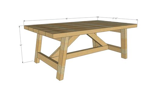 free simple end table plans ana white truss coffee table diy projects