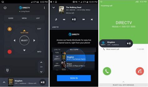 directv android app directv remote app debuts with ability to receiver