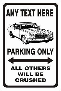 Chevy Chevrolet Chevelle Ss 1970 1971 1972 Parking Sign With Custom Text