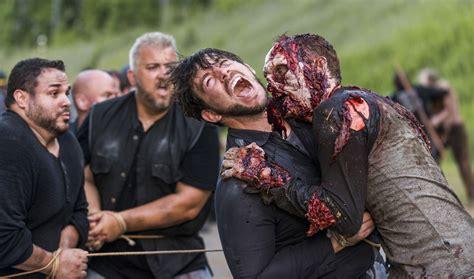 walking dead walker behind scenes attack episode walkers go amc savior saviors