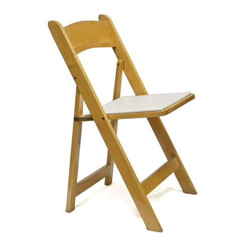 wood padded folding chair linens event rentals