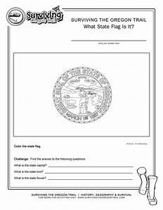 Coloring Page State Flag Nebraska Printable Worksheet