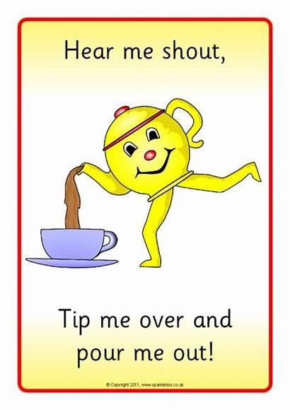 Teapot Rhyme Visual Sparklebox Nursery Aids Related