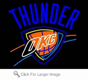 Oklahoma City Thunder Neon Sign only $299 99 Neon NBA Signs