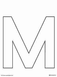 Uppercase Letter M Template Printable | MyTeachingStation.com
