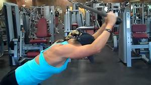 Overhead Tricep Extension On The Cable