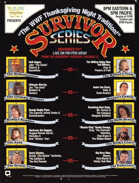 Pin by Jordan Hoath on Wrestling posters   Survivor series ...