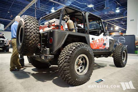 sema jeep 2016 2016 sema hi lift jeep tj wrangler