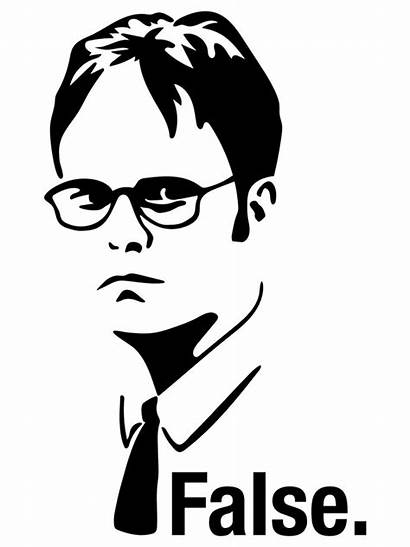 Dwight Schrute False Shirt Drawing Redbubble Clipartmag