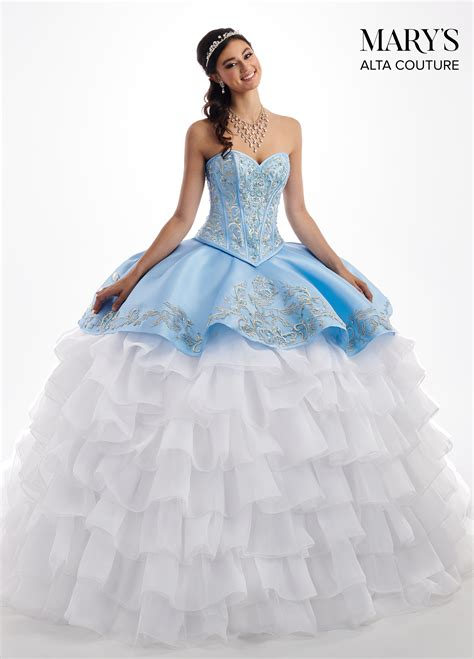 quinceanera couture dresses style mq  ice blue
