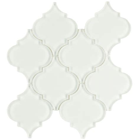 merola tile lantern ice white 8 in x 8 5 8 in x 8 mm