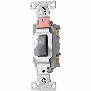 Shop Cooper Wiring Devices Double Pole Gray Light Switch