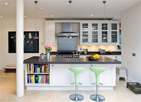 colorful kitchens ideas trendy display 50 kitchen islands with open shelving