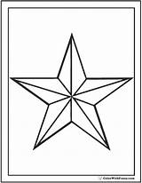 Coloring Star Nautical Pages Outline Printable Colorwithfuzzy sketch template