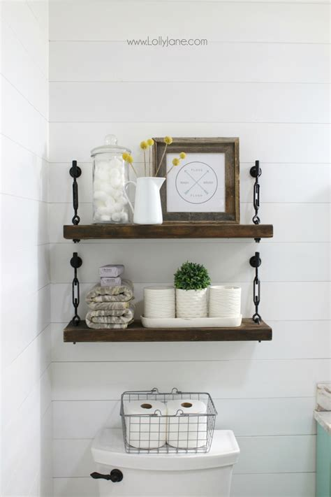 diy turnbuckle shelf  great bathroom addition lolly jane