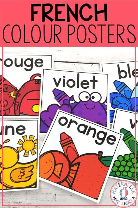 Posters fill our classrooms, but make sure they are helpful. Les couleurs - affiches (FRENCH Colour Color posters) | French colors, Color words poster ...