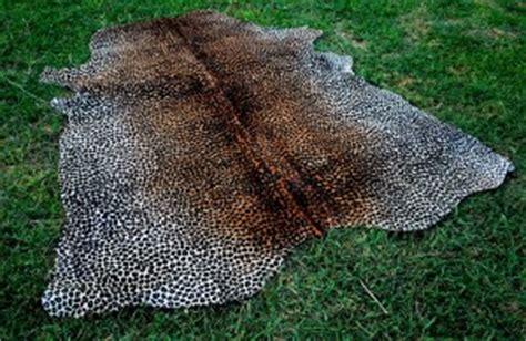 Leopard Cowhide Rug by Stencil Cowhide Animal Print Cowhide Rugs