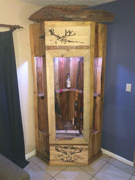 recycled pallet gun cabinet diy  crafts diy