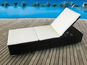 Bain De Soleil Résine Tressée : bain de soleil luxe r sine tress e marron coussin cru ~ Dailycaller-alerts.com Idées de Décoration