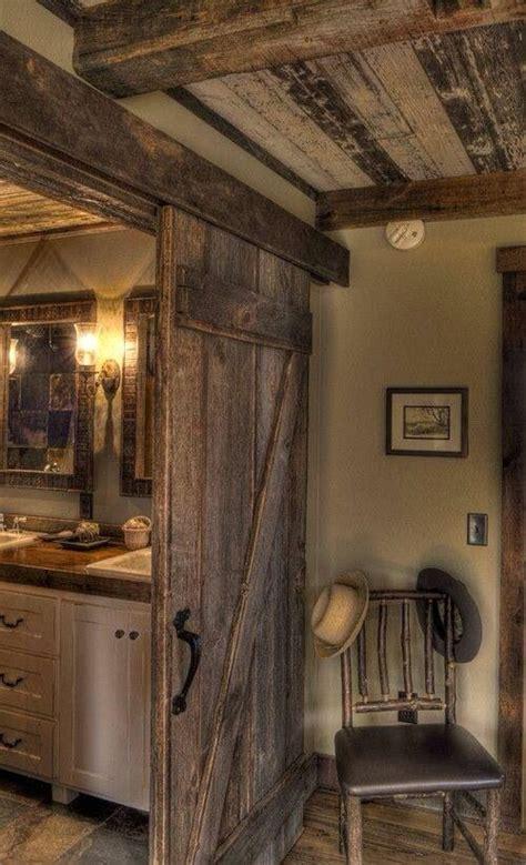 Country Rustic Bathrooms by Rustic Bathroom With Barndoor Primitive Homestead