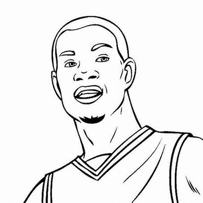 Coloring Pages Basketball Kevin Durant Lebron James
