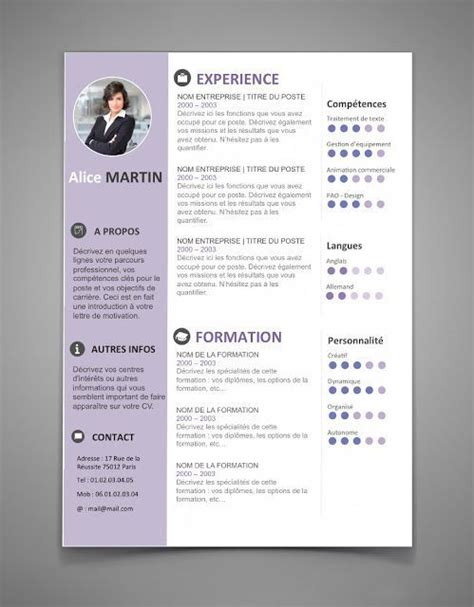 Theme Cv Word by Modele Cv 2017 Lettre De Motivation 2017 Cv Exemple