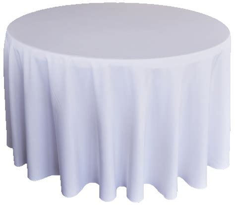 132 Inch Round White Tablecloths Table Linen Covers