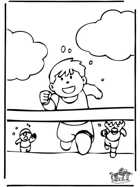rennen malvorlagen sport