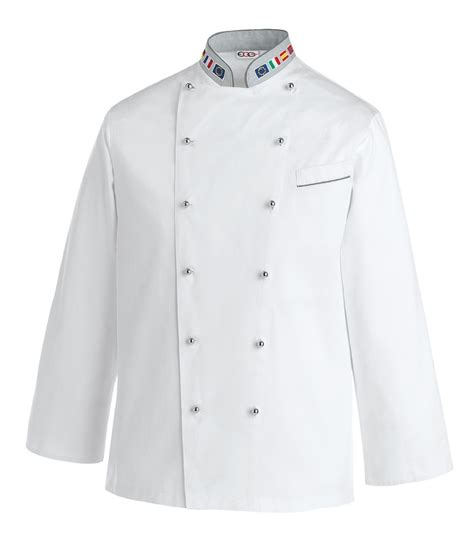 veste de cuisine mof veste de cuisine europe avec col drapeau européen