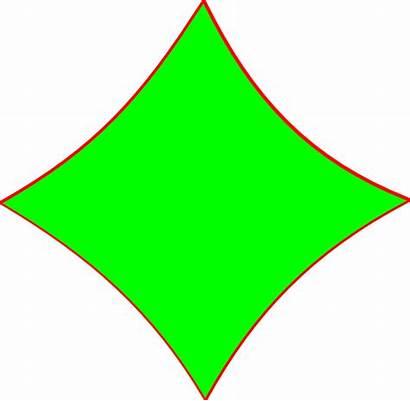 Diamond Shape Clip Shapes Bright Outline Clipart