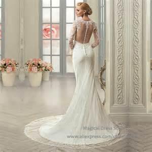 robe de mariã e dentelle sirene aliexpress acheter robe noiva sereia 2016 dentelle voir au travers de mariée sirène robes