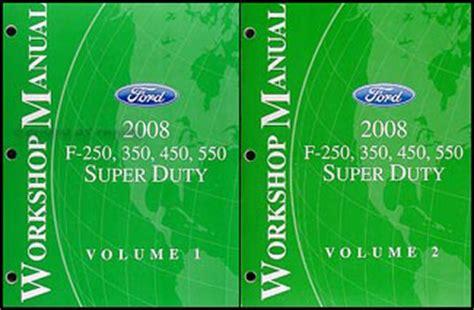 automotive service manuals 2008 ford f series super duty interior lighting 2008 ford super duty f 250 550 repair shop manual original 2 volume set