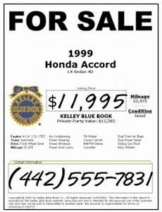 kelley blue book used cars for sale image 2 With used car window sticker template