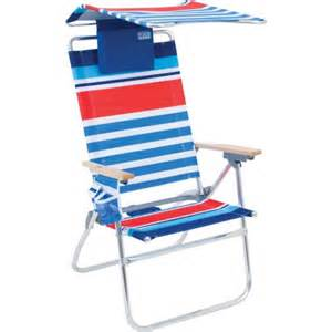 rio hi boy 7 position beach chair with adjustable canopy