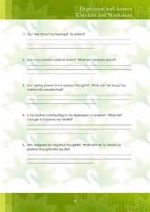 Depression Worksheet Anxiety Anxiety Worksheets For
