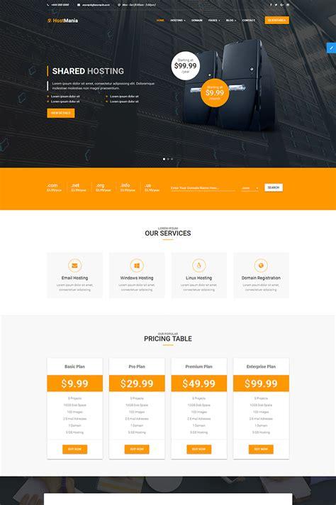 hostmania material design web hosting  whmcs