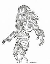 Predator Coloring Pages Alien Colouring Vs Printable Drawings Drawing Predators Mask Print Aliens Adults Cartoon sketch template