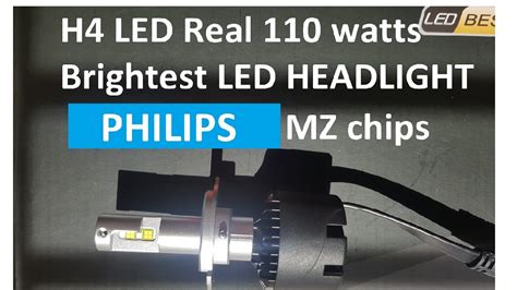 110 Watts H4 Philips Mz Led Chip In Halogen Bulb Type