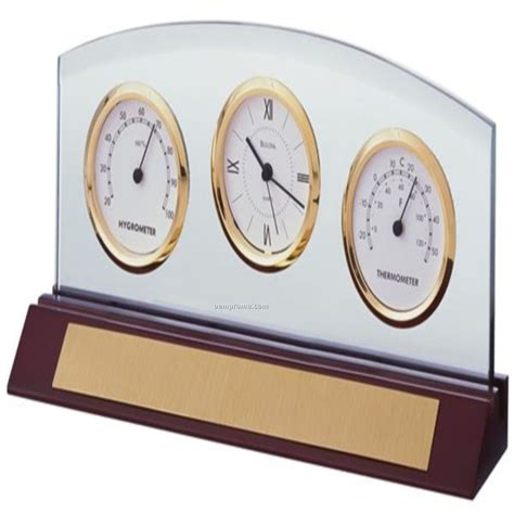 Bulova Desk Clock And Picture Frame by Bulova Desk Clock W Thermometer Hygrometer China