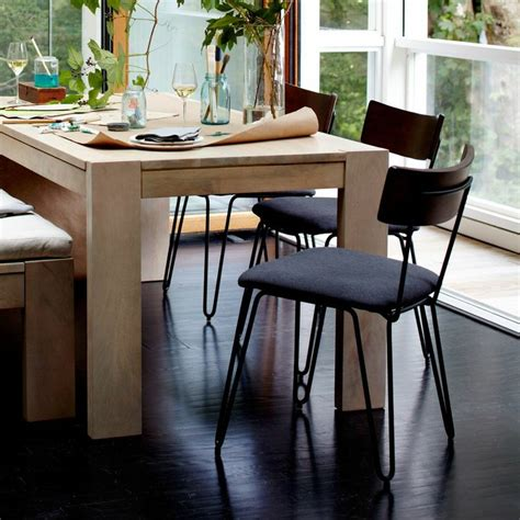 hairpin leg dining chair upholstered