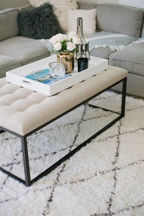 The art of finding the right coffee table, arranging it within a space and decorating it to your taste can make or break a room. Large Tray For Ottoman Styling Ideas | Coffee table, Ottoman coffee table, Home decor colors