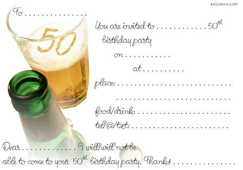 Invitation Template Free 50th Birthday Invitations Wording Bagvania
