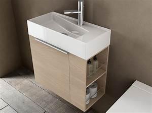 40 meubles pour une petite salle de bains elle decoration With meuble salle de bain étroit